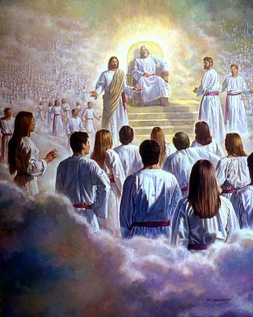 Image result for image of jesus at the right hand of god